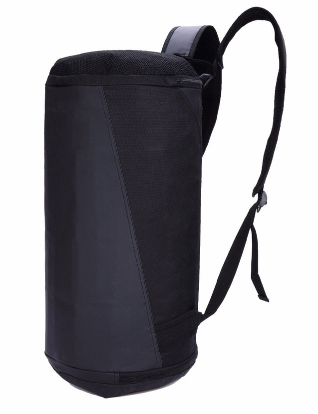 2 in 1 Black 36 to 55 Litre Backpack with Shoe Compartment - InnovatoDesign