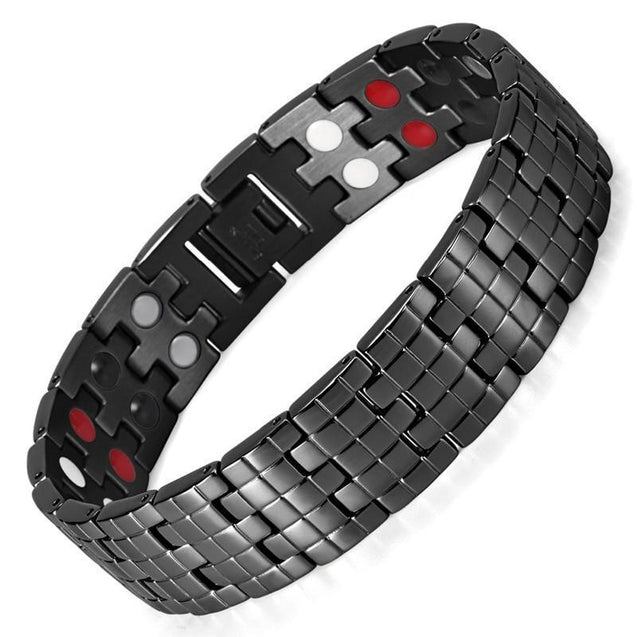 Double Row Stainless Steel Bracelet