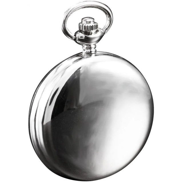 Simple Alloy Pocket Watch with Smooth Classic Design with Arabic Numerals on Watch Face - InnovatoDesign