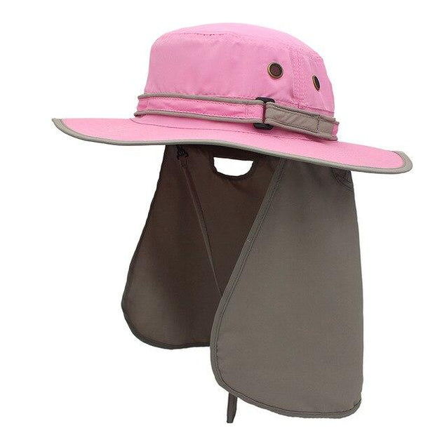 Wide Brim Waterproof Bucket Flap Hat with Rope