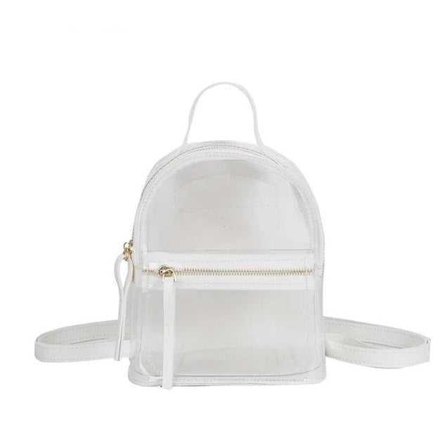 Transparent Casual Backpack in 4 Colors PVC - InnovatoDesign