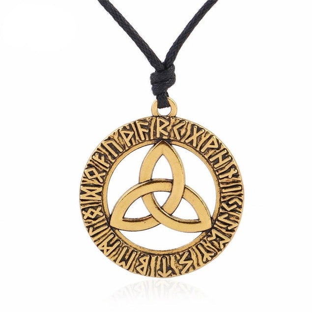 Odin's Horn Triquetra Pendant Choker Necklace - InnovatoDesign