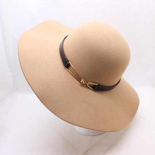 Vintage Felt Sun Floppy Hat for Men and Women