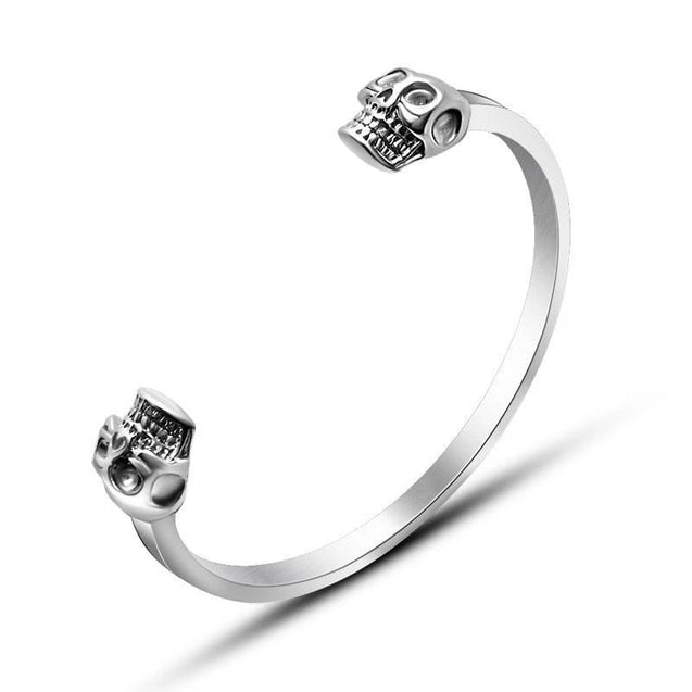 Stainless Steel Punk Skull Bangle Bracelet - InnovatoDesign