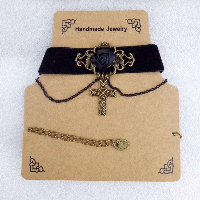 Vintage Jesus Choker Cross Necklace - InnovatoDesign
