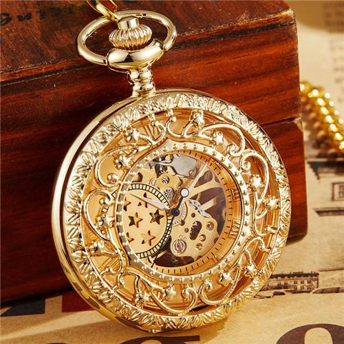 7 Stars Roman Numbers Baroque Style Vintage Pocket Watch - InnovatoDesign
