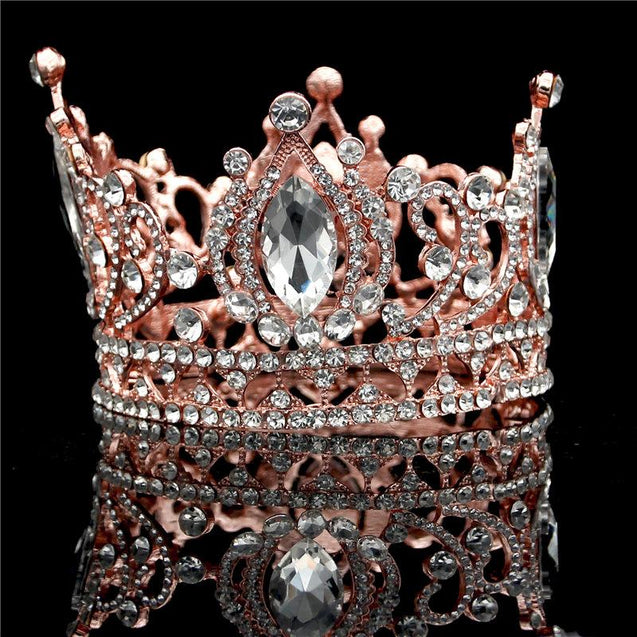 Rose Gold Baroque Wedding Tiaras and Crowns for Princesses - InnovatoDesign