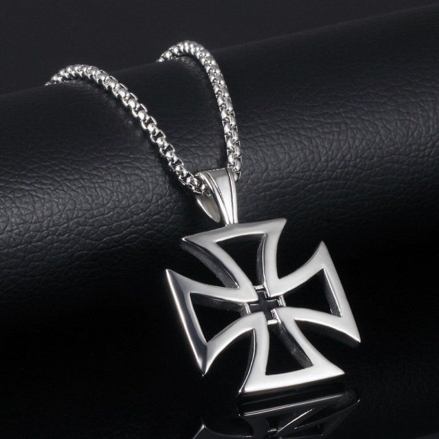 Hollow Maltese Cross Pendant Necklace - InnovatoDesign
