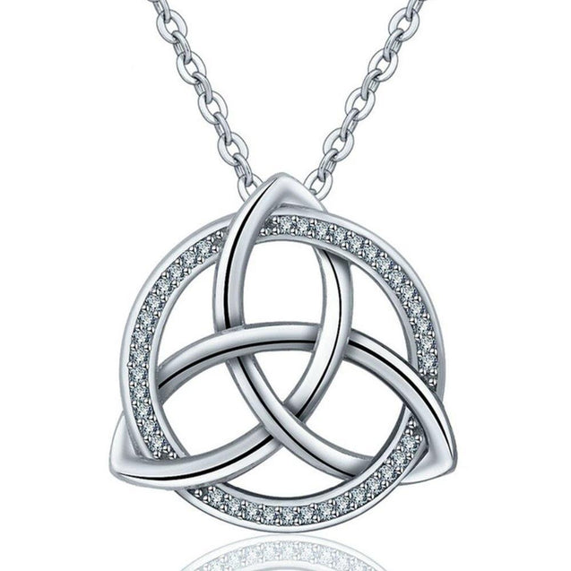 Celtic Triquetra / Trinity Knot 925 Sterling Silver Pendant Necklace - InnovatoDesign