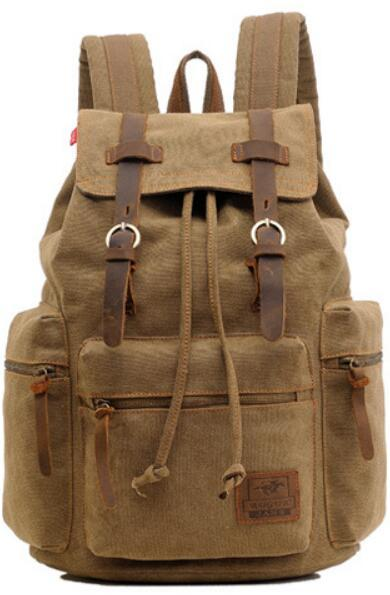 Canvas Leather School and Casual Backpack 20 to 35 Litre - InnovatoDesign
