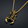 Stainless Steel Scorpion Pendant and Box Chain Necklace
