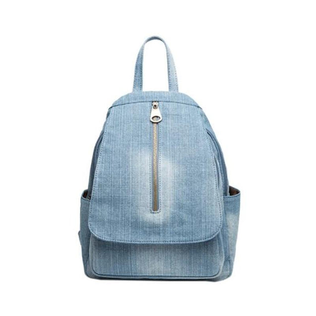Handmade Blue Denim Canvas Casual 20 to 35 Litre Backpack - InnovatoDesign