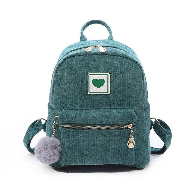 Corduroy Cute Love 20 to 35 Litre Backpack - InnovatoDesign