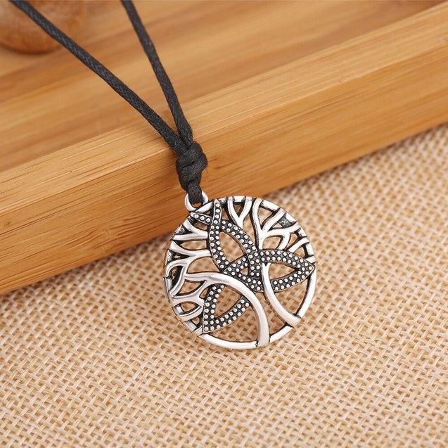 Tree of Life & Triquetra Tibetan Pendant Necklace - InnovatoDesign
