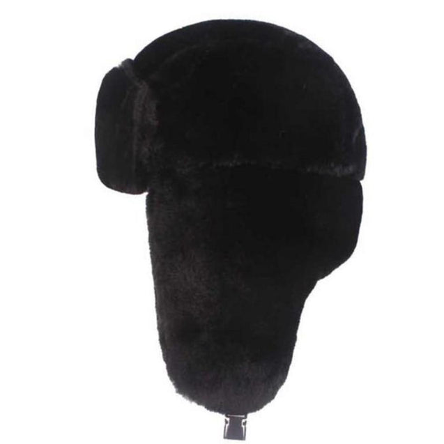 Thick Warm Soft Winter Fur Bomber Hat with Earflaps