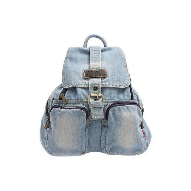 Blue Denim Daily Travel 20 to 35 Litre Backpack for Girls - InnovatoDesign