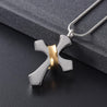 Silver Cross Pendant Mini-Urn Memorial Pendant Necklace - InnovatoDesign