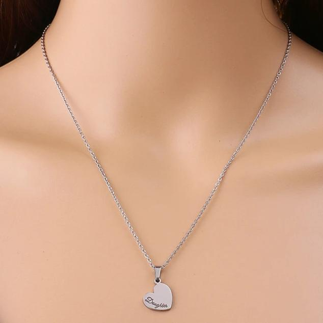Stainless Steel Silver Hollow Heart Mother and Daughter Necklace Set - InnovatoDesign
