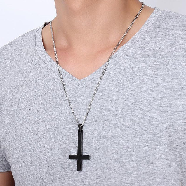 Classic St. Peter's Inverted Cross Pendant Necklace - InnovatoDesign