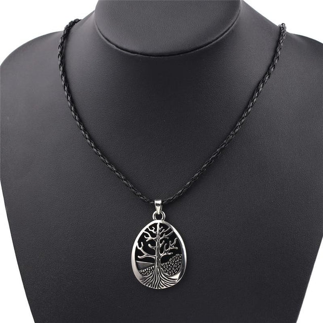Yggdrasil Tree of Life Viking Talisman Pendant Necklace with Rope Chain - InnovatoDesign