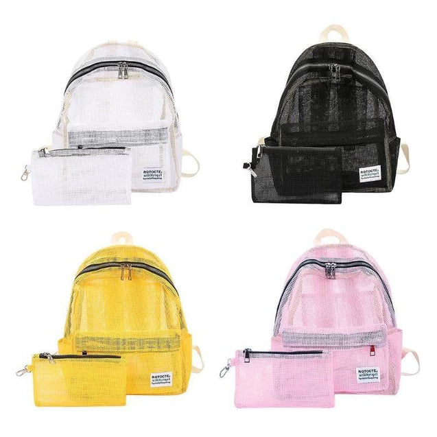 Transparent Fashionable School Backpack - InnovatoDesign