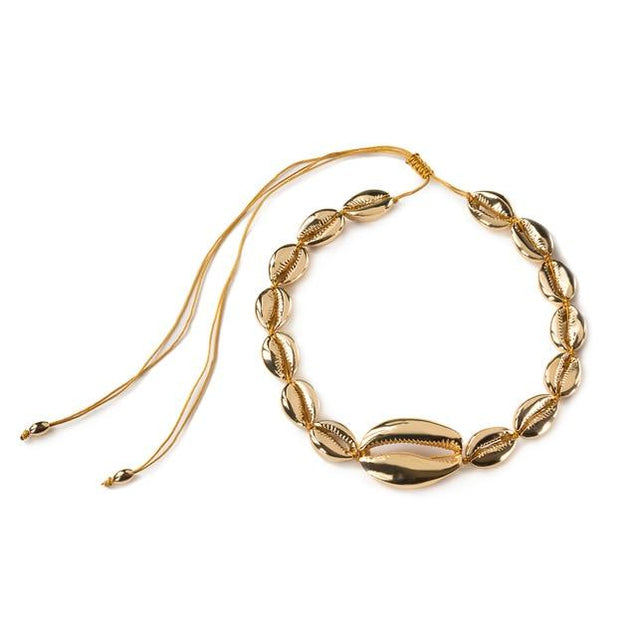 Multi-layer Gold Plated Puka Shell Rope Necklace - InnovatoDesign