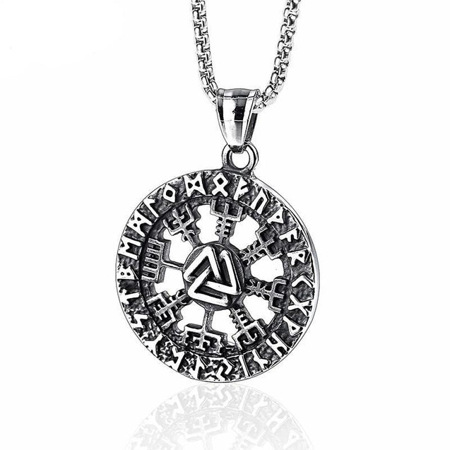 Valknut Amulet Stainless Steel Pendant Necklace - InnovatoDesign