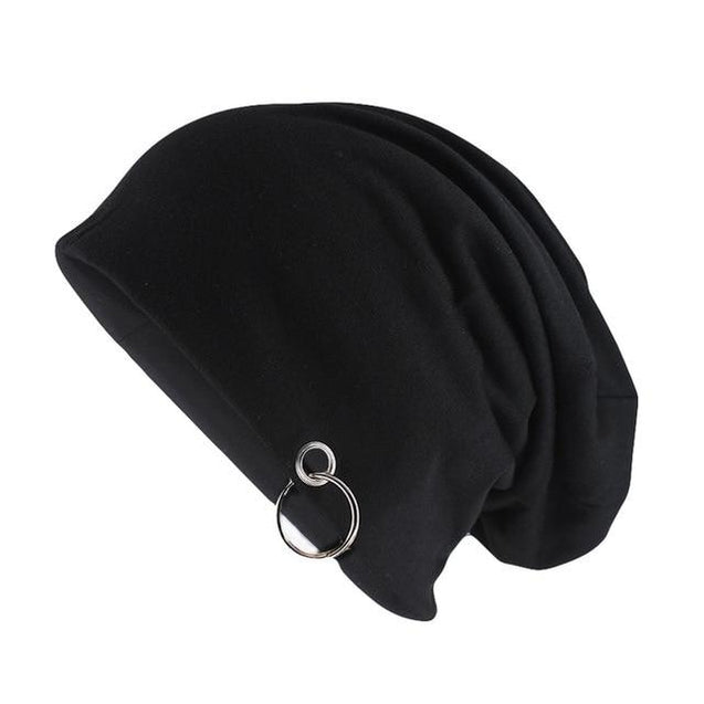 Solid Color Beanie or Skullie with Hoop