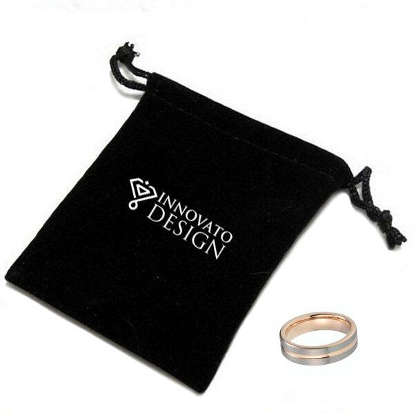 Rose Gold Plated Tungsten Carbide Wedding Band - InnovatoDesign