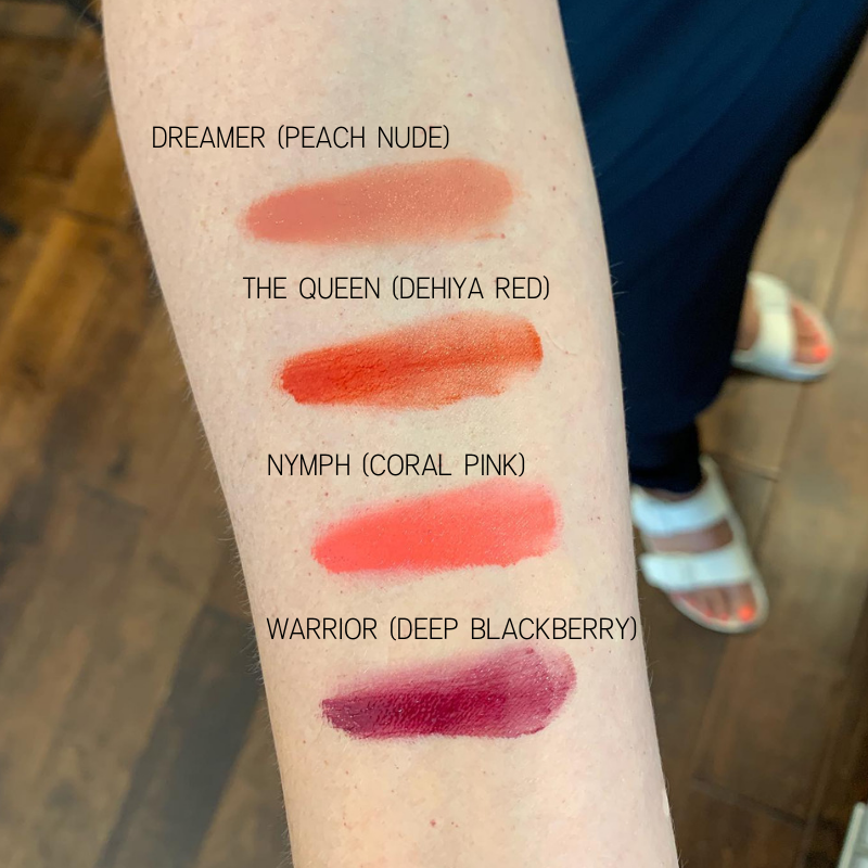 Dehiya Beauty Lip and Cheek Tint Swatch Light Skin Tone