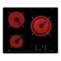 Vitroceramic hob with 3 zones and Touch Control in 60 cm