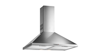 Pyramidal decorative hood with push buttons controls in 60 cm