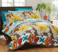 Sonja 100% Cotton Fitted Sheet / Quilt Cover Set