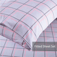 Lula 100% Cotton Fitted Sheet Set / Quilt Cover
