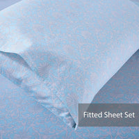 Mindala 100% Cotton Fitted Sheet Set / Quilt Cover