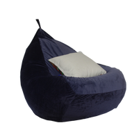 Pear-shaped lazy chair of velvet fabric
