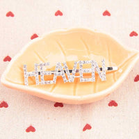 1PC Bling Letter Hairpins Headwear for Women Girls Hair Clips Pins Barrette Tools Hair Accessories