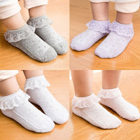Baby Girls Eyelet Lace Flower Ankle Short Socks Newborn Infant Toddlers Cotton
