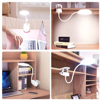 YAGE Gooseneck Wireless Table Lamp 18650 Rechargeable Led Desk Lamp Clip Touch Study Lamps Table Desktop USB 3 Modes Table Light