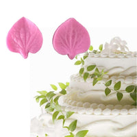 3D Flower Leaf Fondant Silicone Mold  Cooking Wedding Decoration Baking Sugar Craft Molds Leaves DIY Cake Silicone Mold