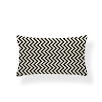 Rectangle Cushion Cover Geometry Pillow Cover Nordic Style Decoration Throw Pillow Covers Zigzag 30X50 Cotton Linen Customized