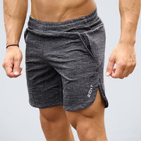 Summer Mens Slim Brand Shorts Calf-Length Fitness Bodybuilding Fashion Casual Gyms Jogger Workout Beach Short pants Sportswear