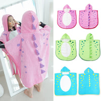 Hooded dinosaur modeling kid Bathrobe Cartoon Towel bath robe/girls and boys beach towels children gift