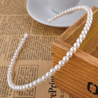 New Hot Korean Sample design Imitation Pearl Hair Band Girls Hair Accessories Women Headband Wedding Party Bridal Hair Hoop