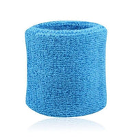 2PCS Colorful Cotton Unisex Sport Sweatband Wristband Wrist Protector Running Badminton Basketball Brace Terry Cloth Sweat Band