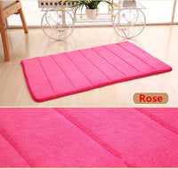 40*60cm Bath Mat Bathroom Carpet Rug coral fleece Memory Foam Bathroom Mat kitchen Door Floor tapis de bain