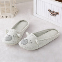 Cotton Cute Animal Home Women Slippers Cartoon Indoor Shoes For Girls Ladies Female Warm House Bedroom Floor Flats