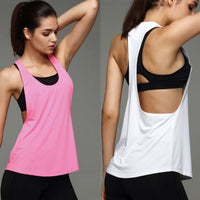 Summer Sexy Women Yoga Shirts Tank Top Gym Sports Running Athletic Active Stretch Workout Vest  Quick Drying Clothes