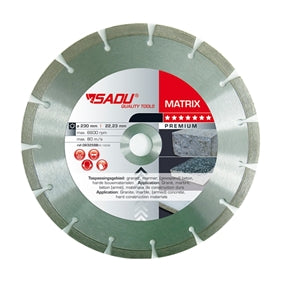SADU diamond disc 125x22,23 Matrix