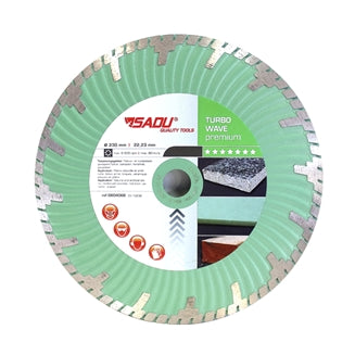 SADU diamond disc 125x22,23 Turbo wave